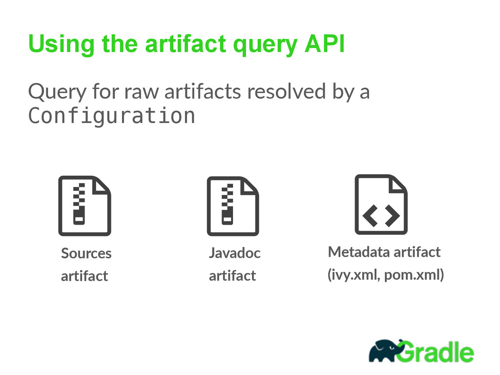 Using the artifact query API Query  for  raw  a...