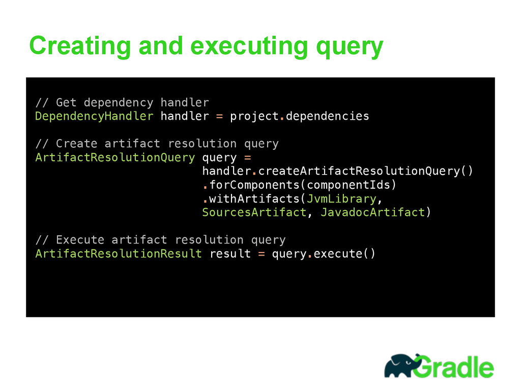 Creating and executing query 