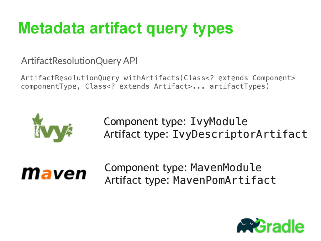Metadata artifact query types Component type: I...