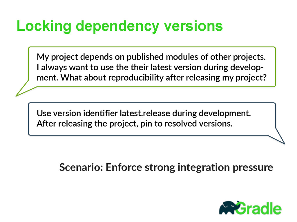 Locking dependency versions My  project  depend...