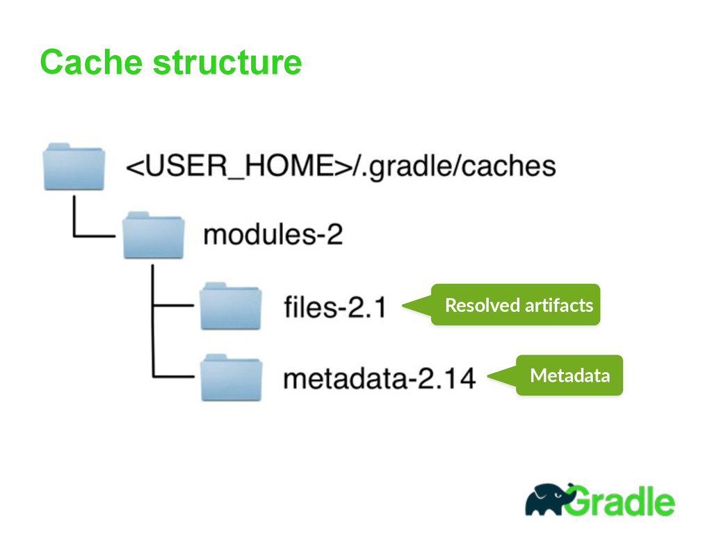 Cache structure Resolved  artifacts Metadata