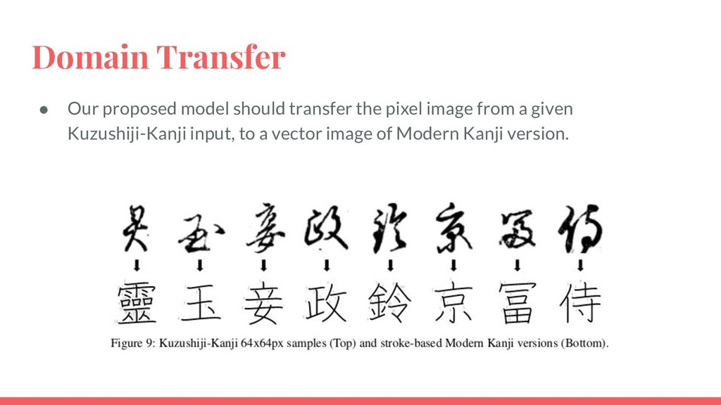 Domain Transfer ● Our proposed model should tra...