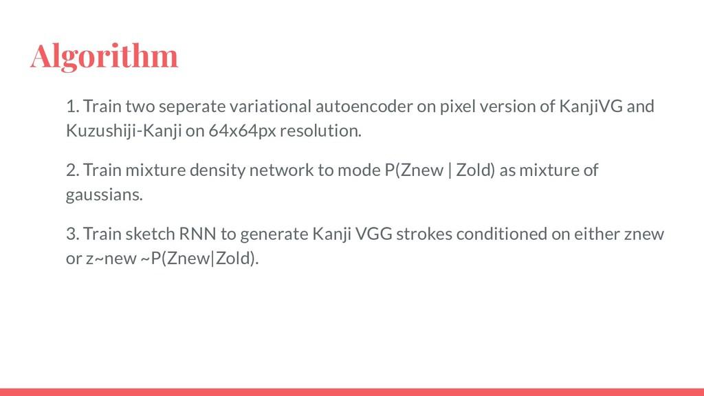 Algorithm 1. Train two seperate variational aut...