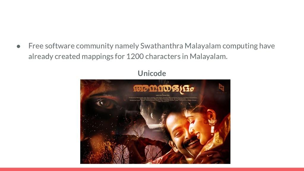 ● Free software community namely Swathanthra Ma...