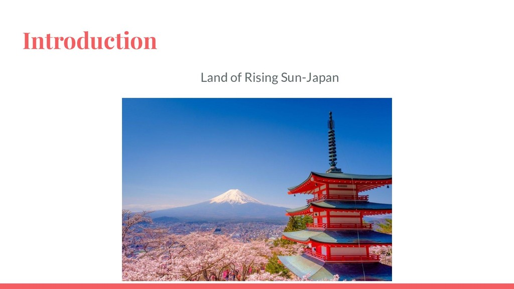 Introduction Land of Rising Sun-Japan