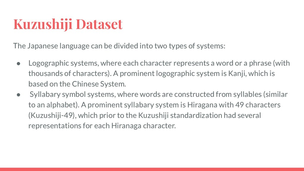 Kuzushiji Dataset The Japanese language can be ...