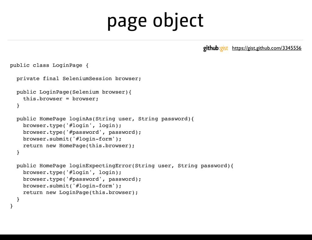 page object public class LoginPage { private fi...