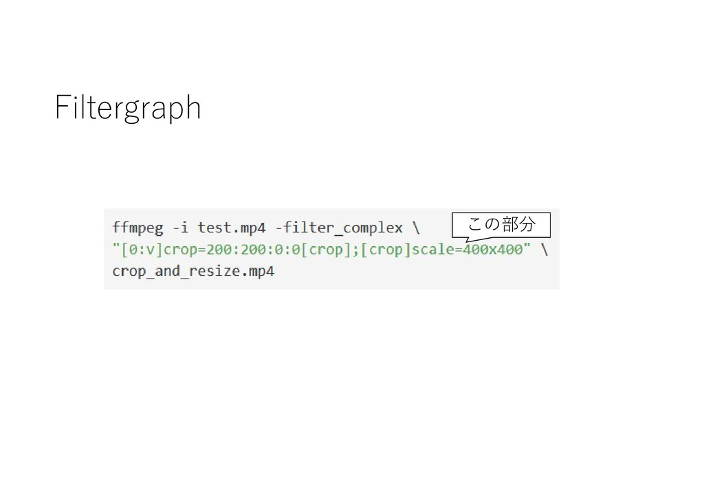 Filtergraph この部分