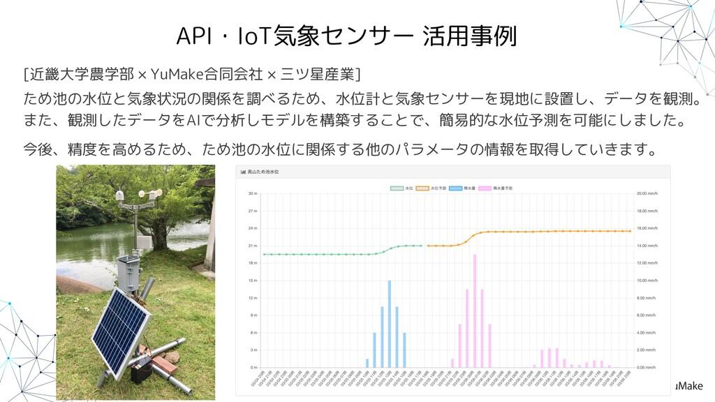 API・IoT気象センサー 活用事例 [近畿大学農学部 × YuMake合同会社 × 三ツ星産...