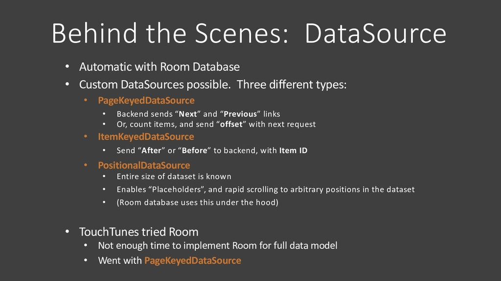 Behind the Scenes: DataSource • Automatic with ...