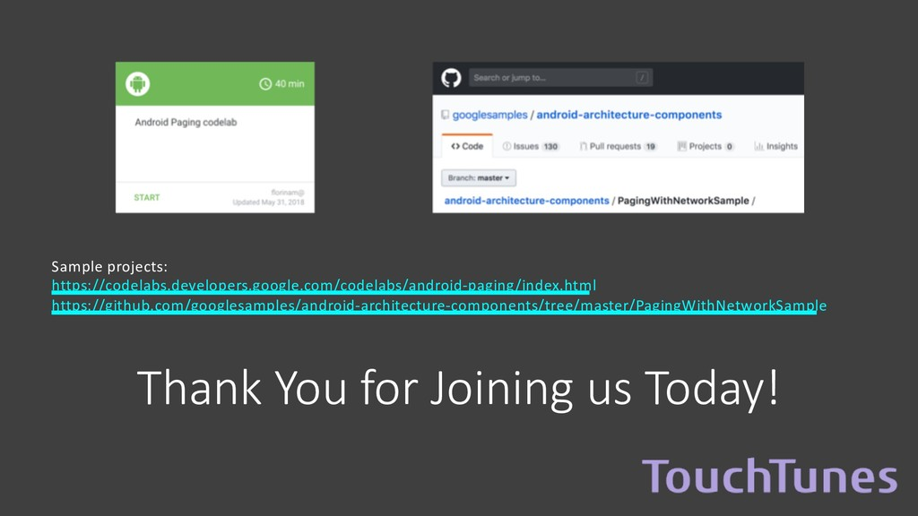 Thank You for Joining us Today! Sample projects...