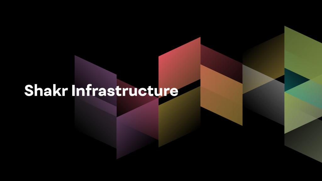 Shakr Infrastructure