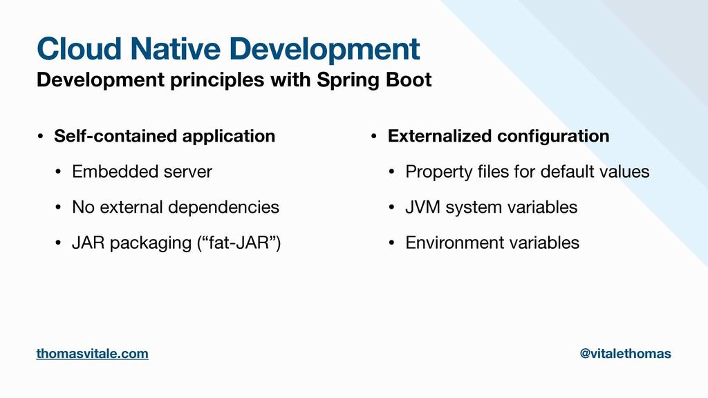 Cloud Native Development Development principles...