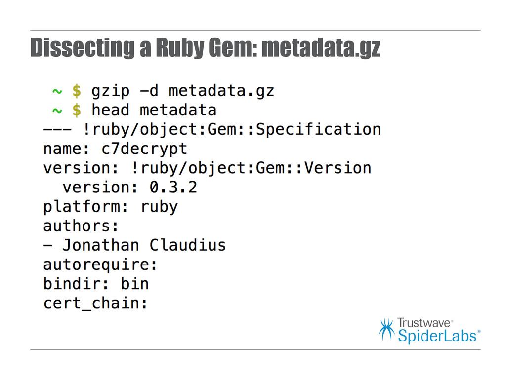 Dissecting a Ruby Gem: metadata.gz