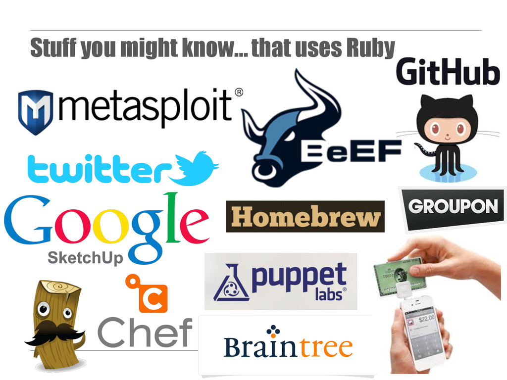 Stuff you might know… that uses Ruby