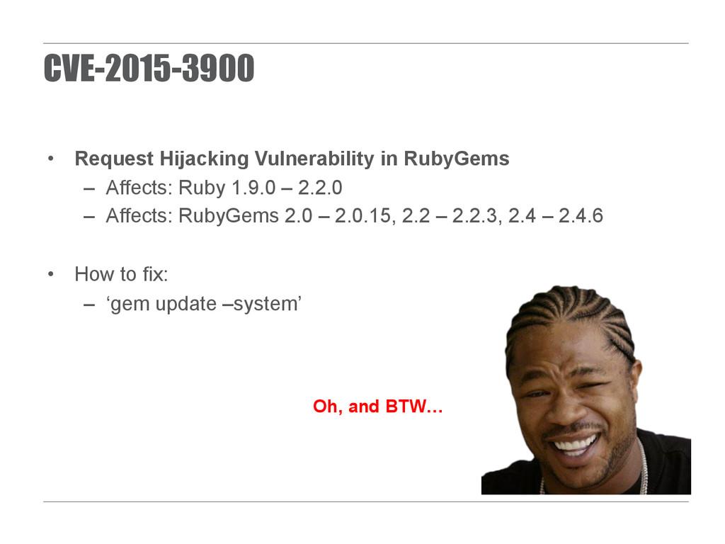 CVE-2015-3900 • Request Hijacking Vulnerabilit...