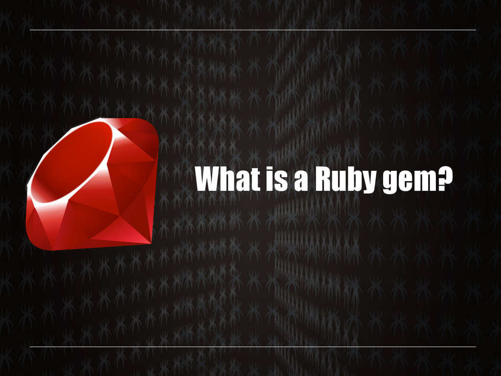 What is a Ruby gem?
