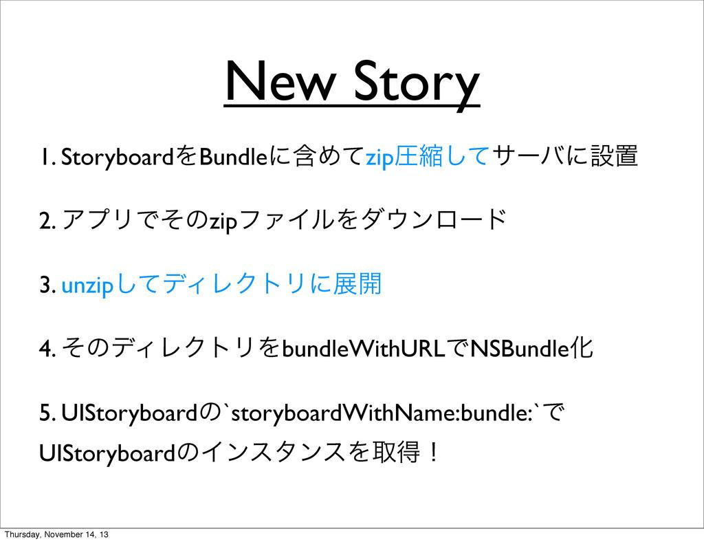 New Story 1. StoryboardΛBundleʹؚΊͯzipѹॖͯ͠αʔόʹઃஔ...