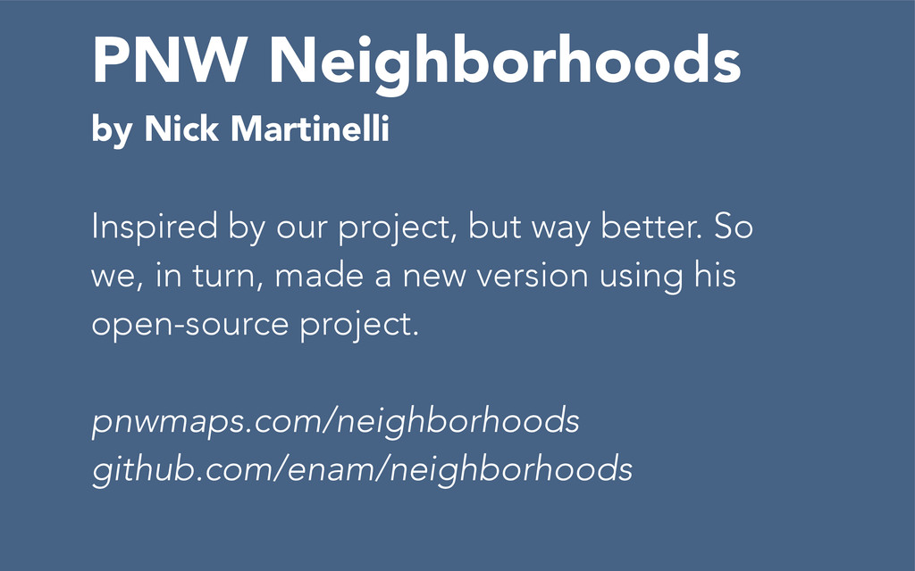 PNW Neighborhoods by Nick Martinelli Inspired b...