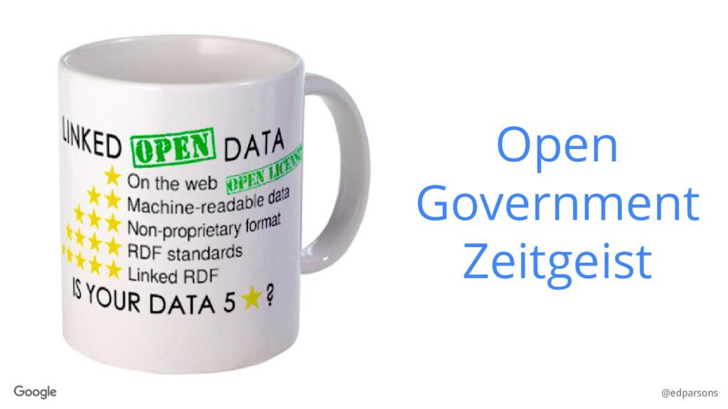 @edparsons Open Government Zeitgeist