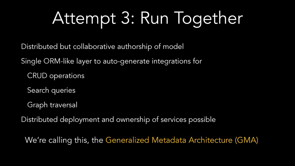 Attempt 3: Run Together Distributed but collabo...