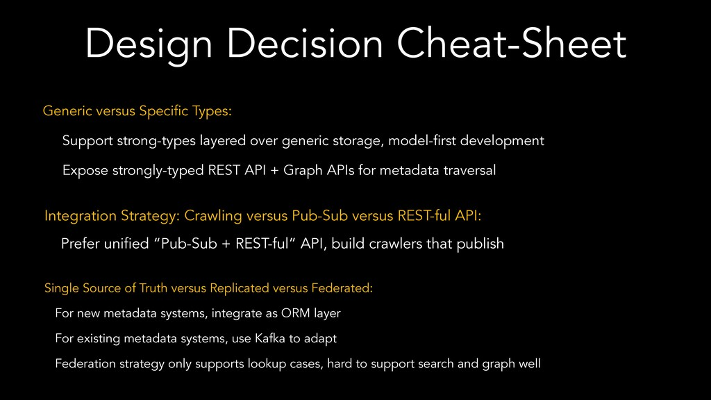 Design Decision Cheat-Sheet Generic versus Spec...