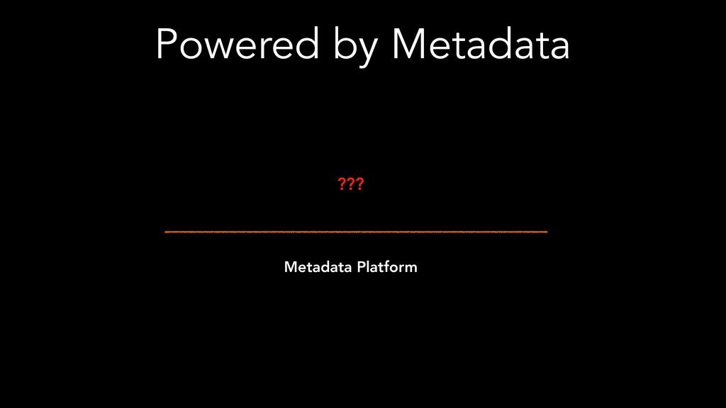 Powered by Metadata Metadata Platform ???