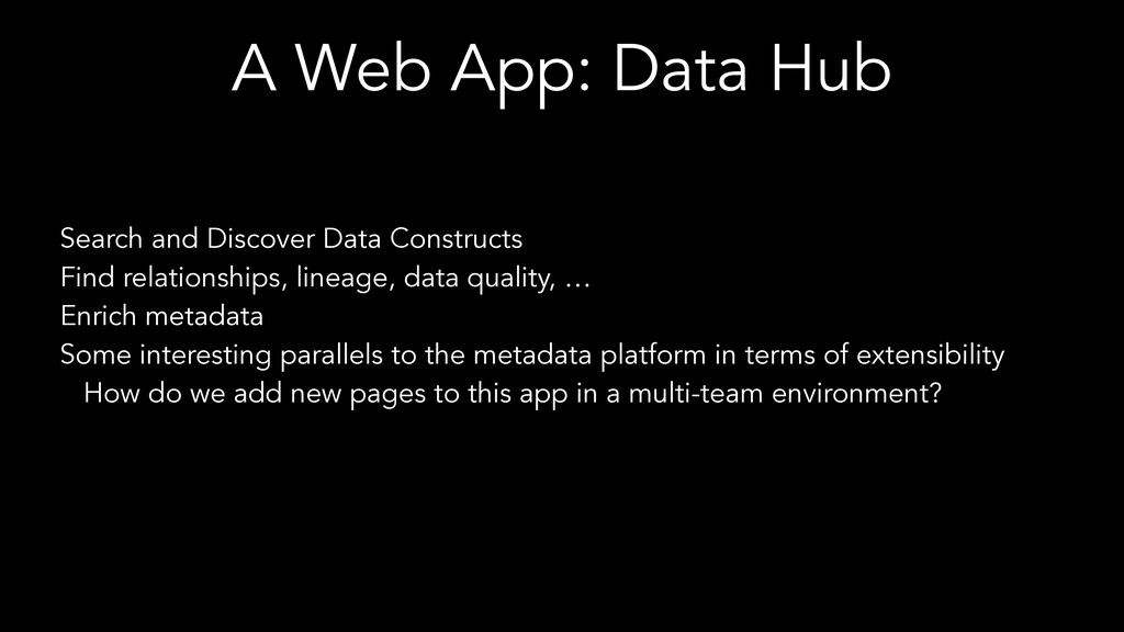 A Web App: Data Hub Search and Discover Data Co...