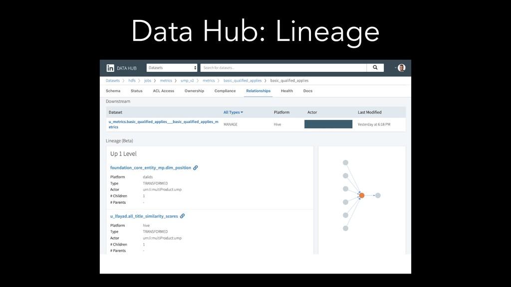Data Hub: Lineage