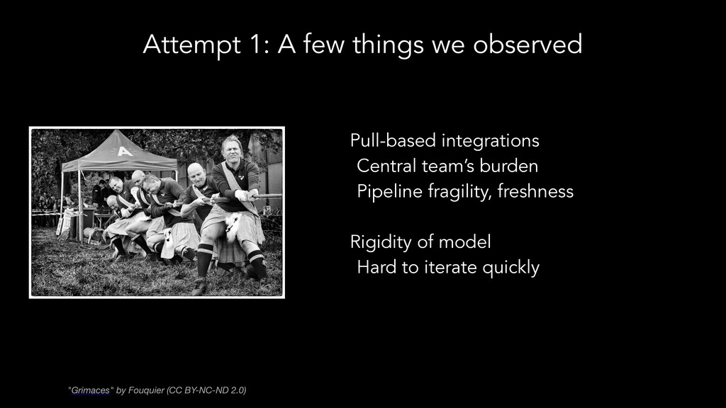 Attempt 1: A few things we observed Pull-based ...