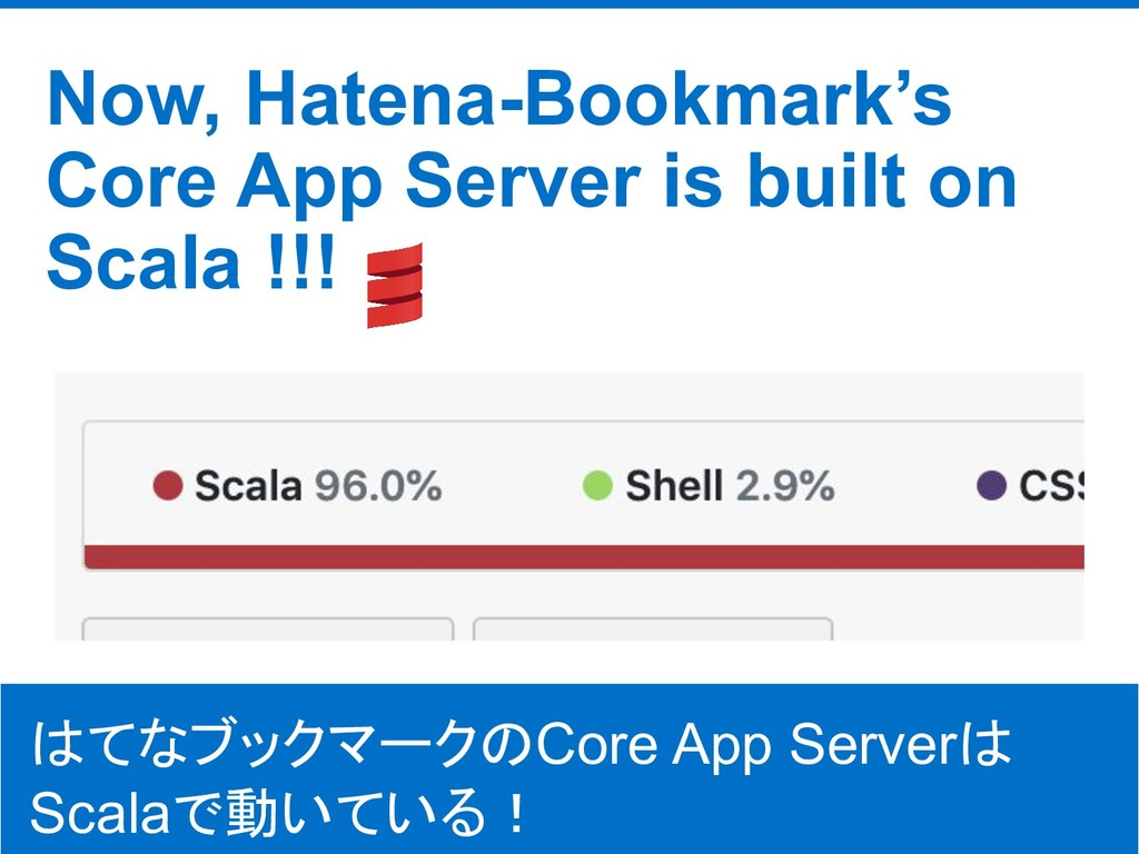 ©Hatena Co., Ltd. Now, Hatena-Bookmark's Core A...