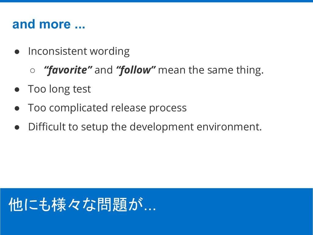"©Hatena Co., Ltd. ● Inconsistent wording ○ ""fav..."