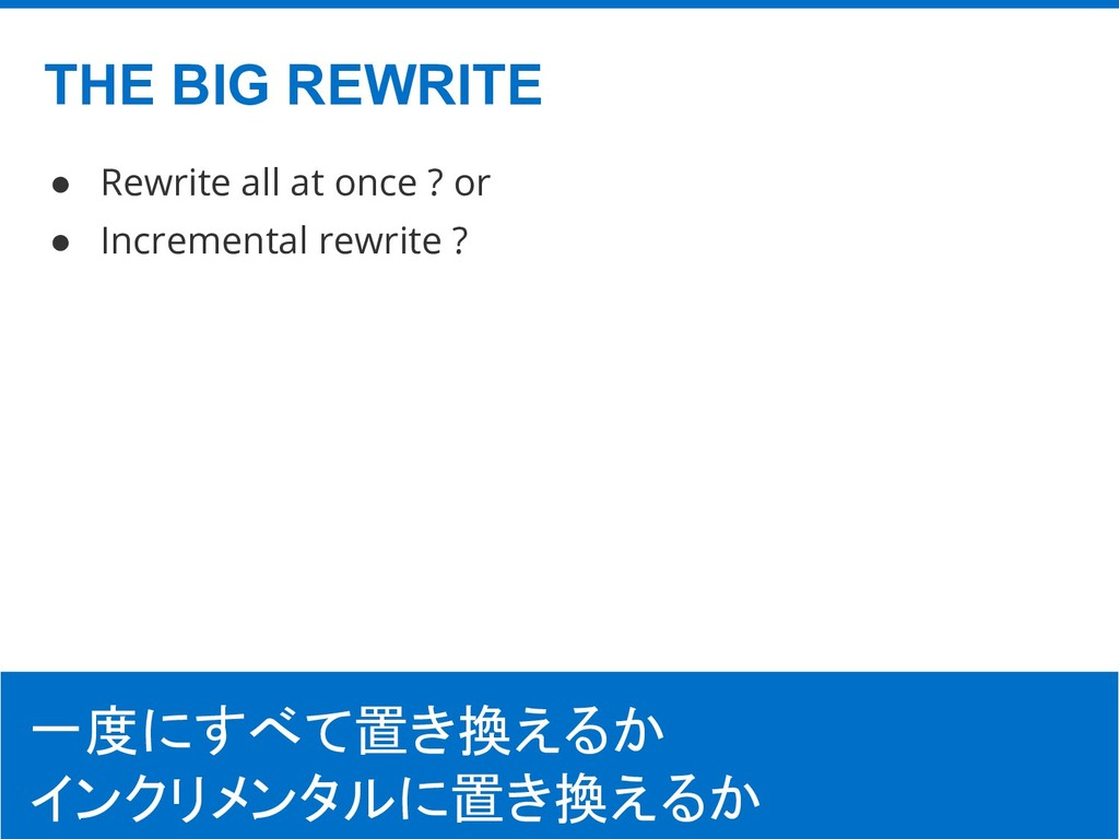 ©Hatena Co., Ltd. ● Rewrite all at once ? or ● ...