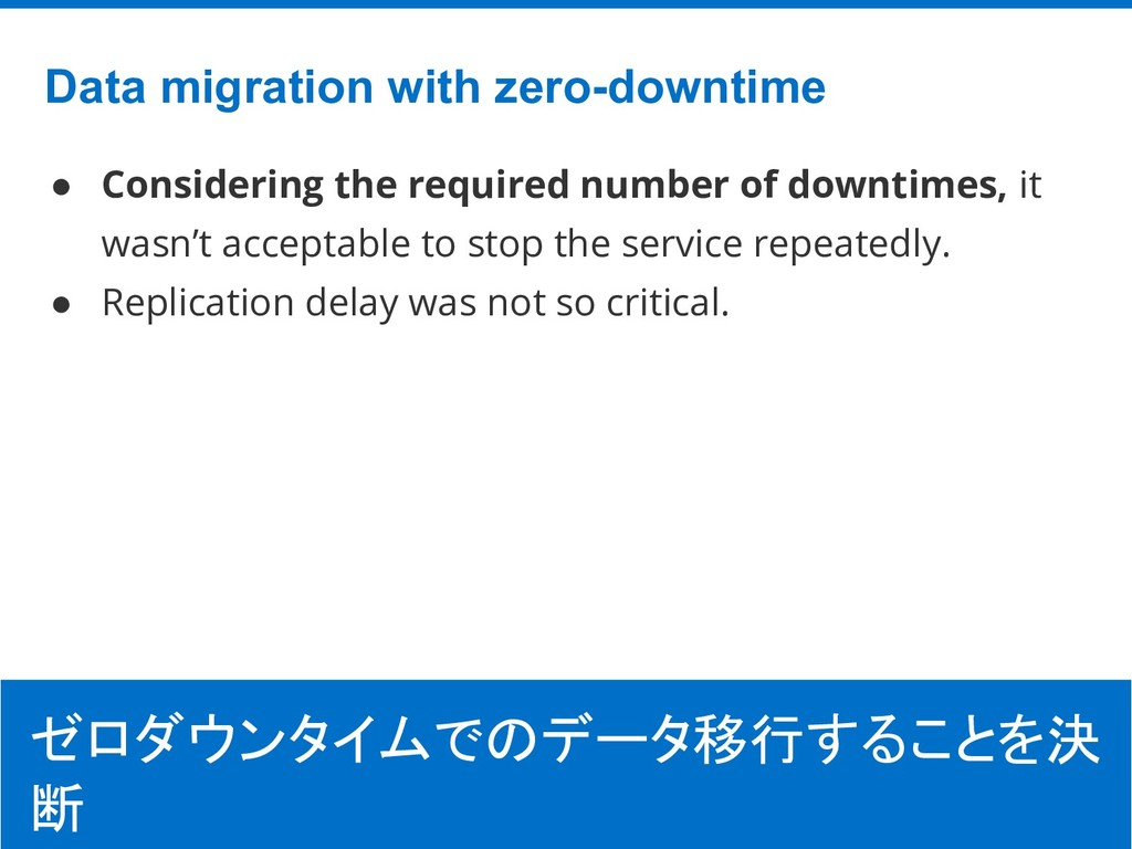 ©Hatena Co., Ltd. Data migration with zero-down...