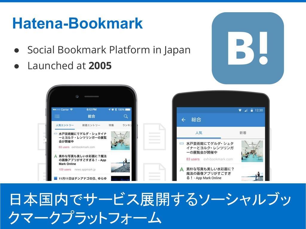 ©Hatena Co., Ltd. Hatena-Bookmark 8 日本国内でサービス展開...