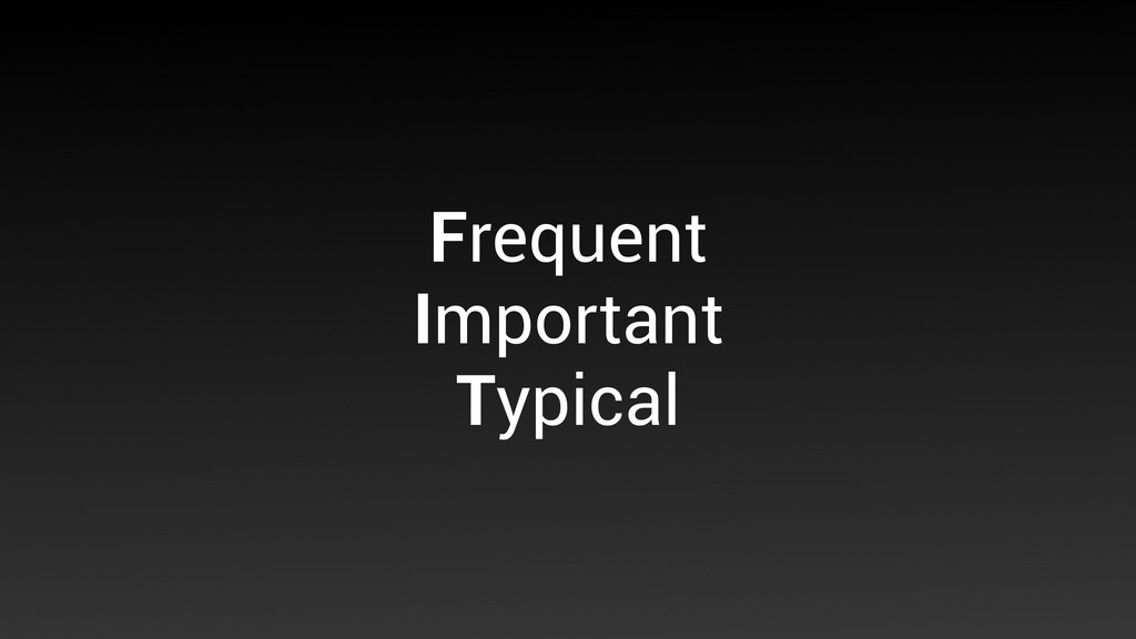 Frequent Important Typical