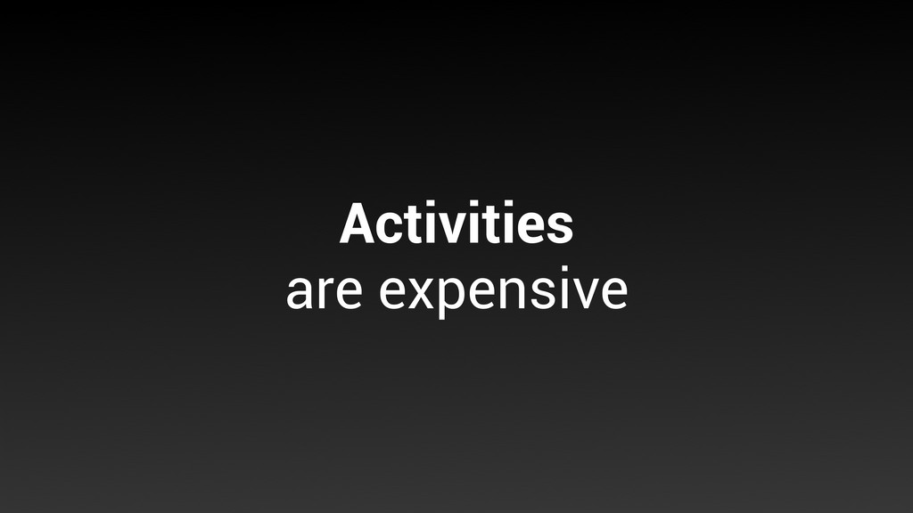 Activities are expensive