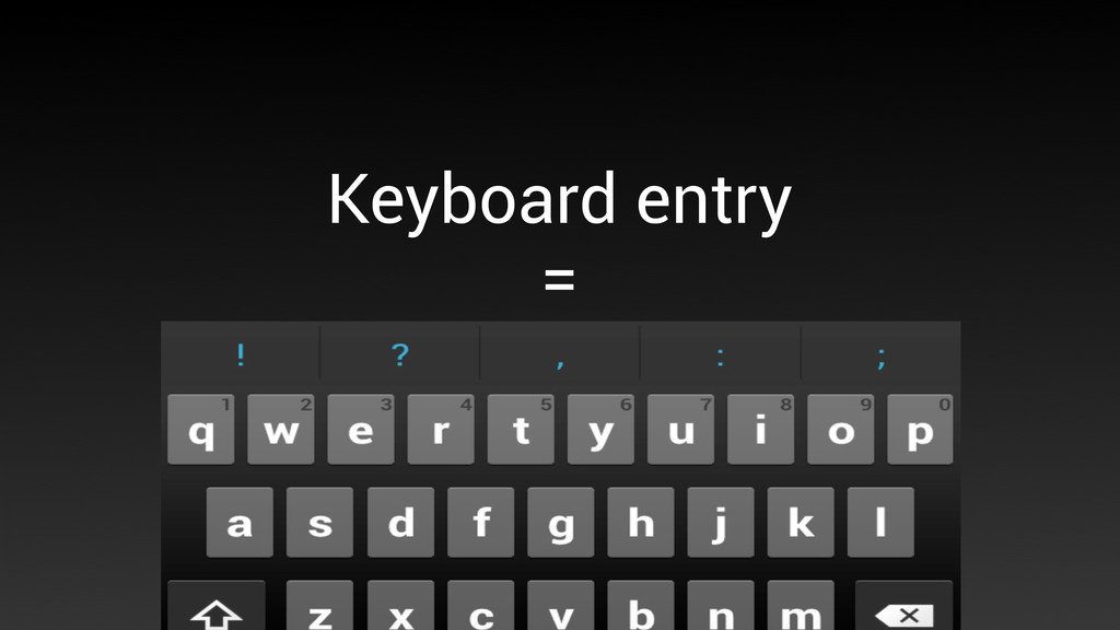 Keyboard entry = 50% of the screen is gone