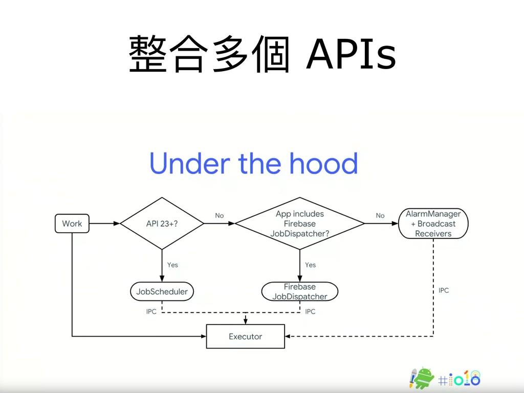 整合多個 APIs