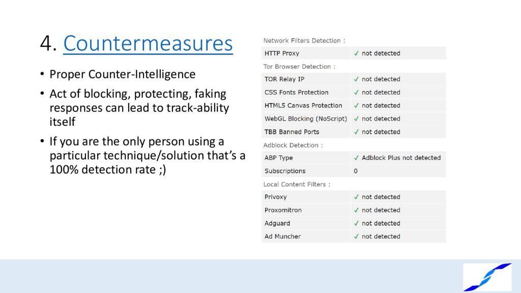 4. Countermeasures • Proper Counter-Intelligenc...
