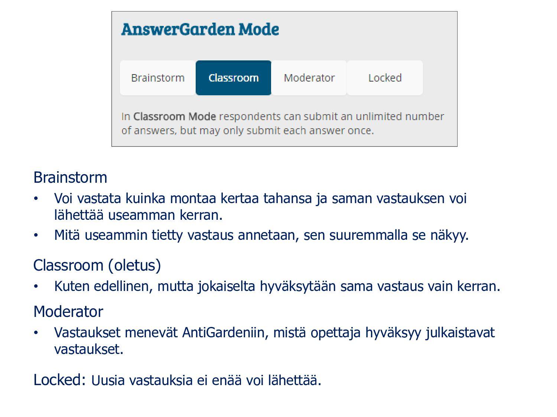 ANSWER LENGHT: Vastauksen maksimipituus, suosit...