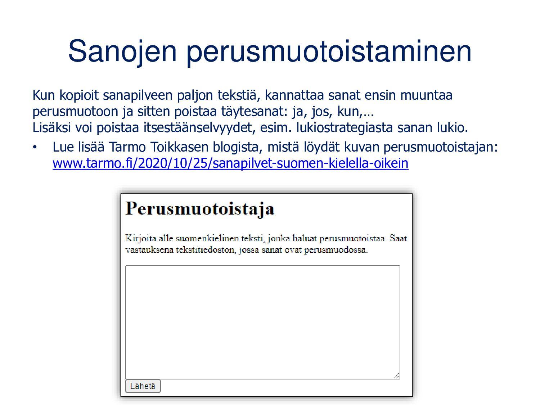 Mikä on AnswerGarden? • Palvelu, jonka avulla s...