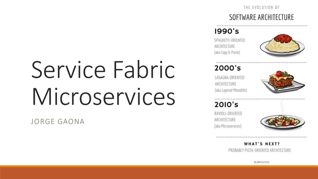 Service Fabric Microservices JORGE GAONA