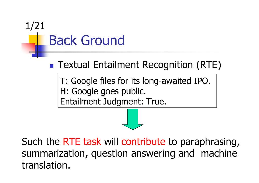 Back Ground Textual Entailment Recognition (RTE...