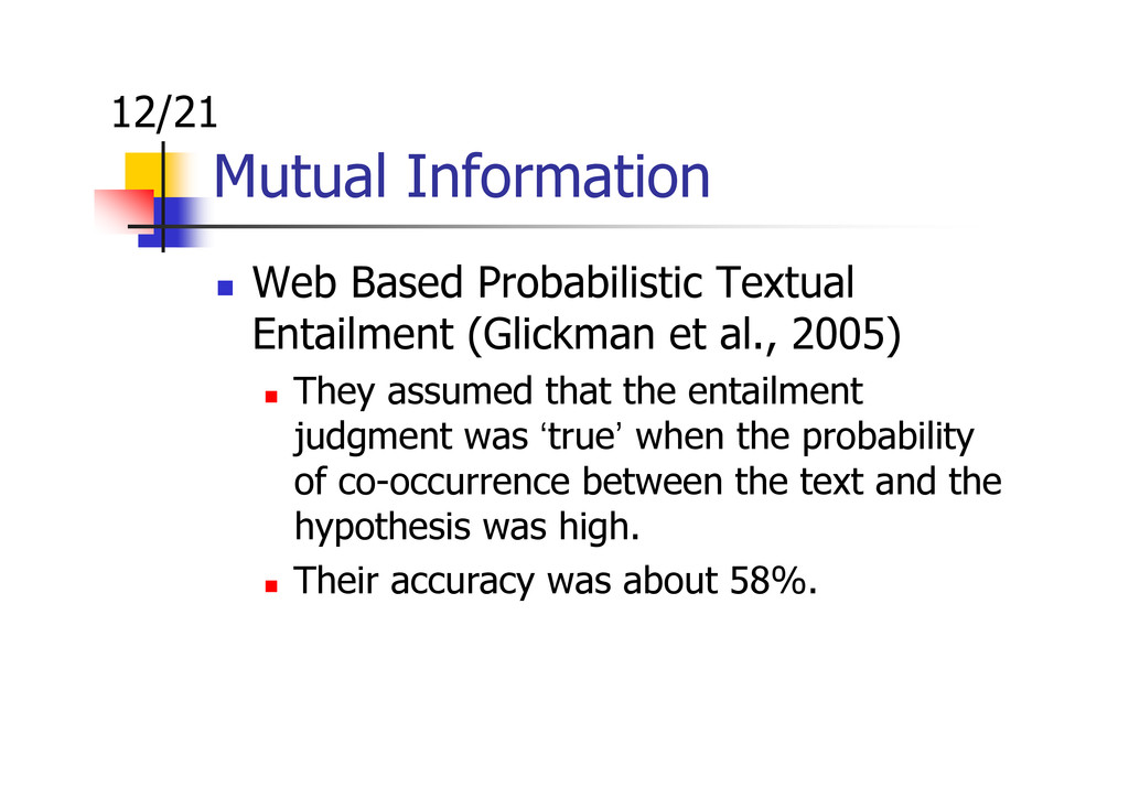 Mutual Information Web Based Probabilistic Text...