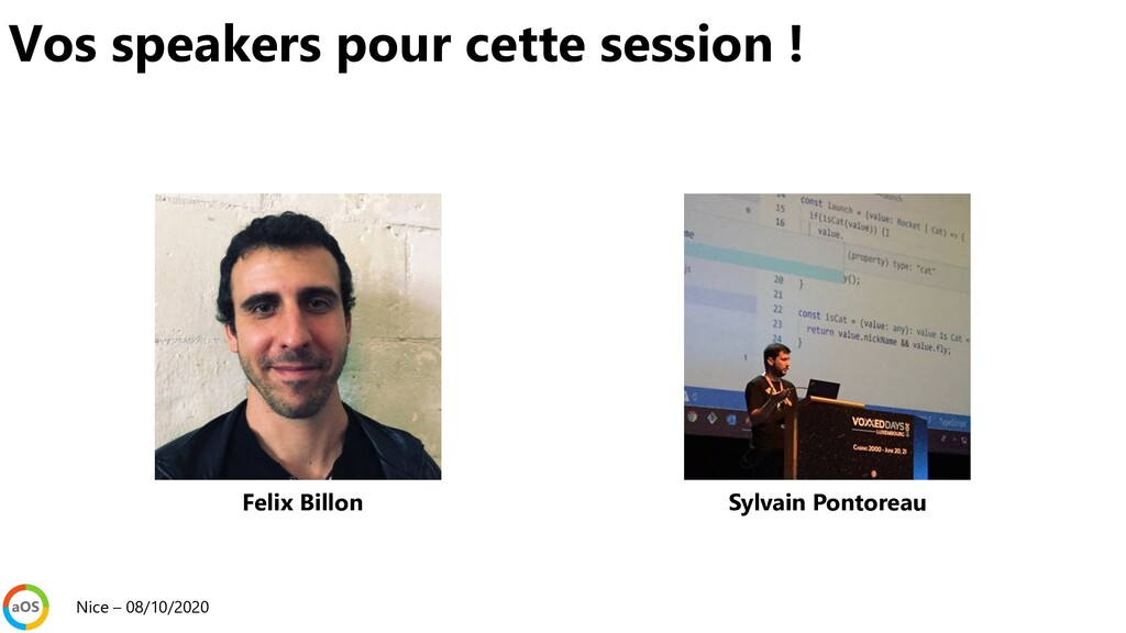Vos speakers pour cette session ! Nice – 08/10/...
