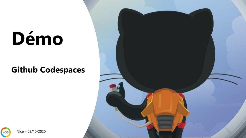 Démo Github Codespaces Nice – 08/10/2020