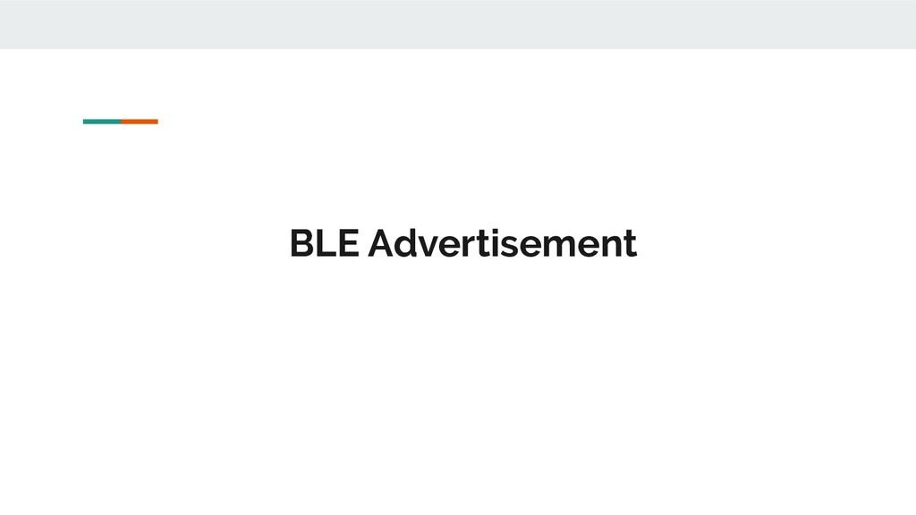BLE Advertisement