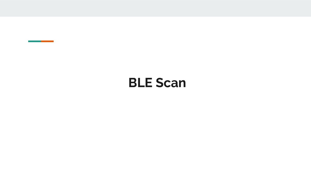 BLE Scan