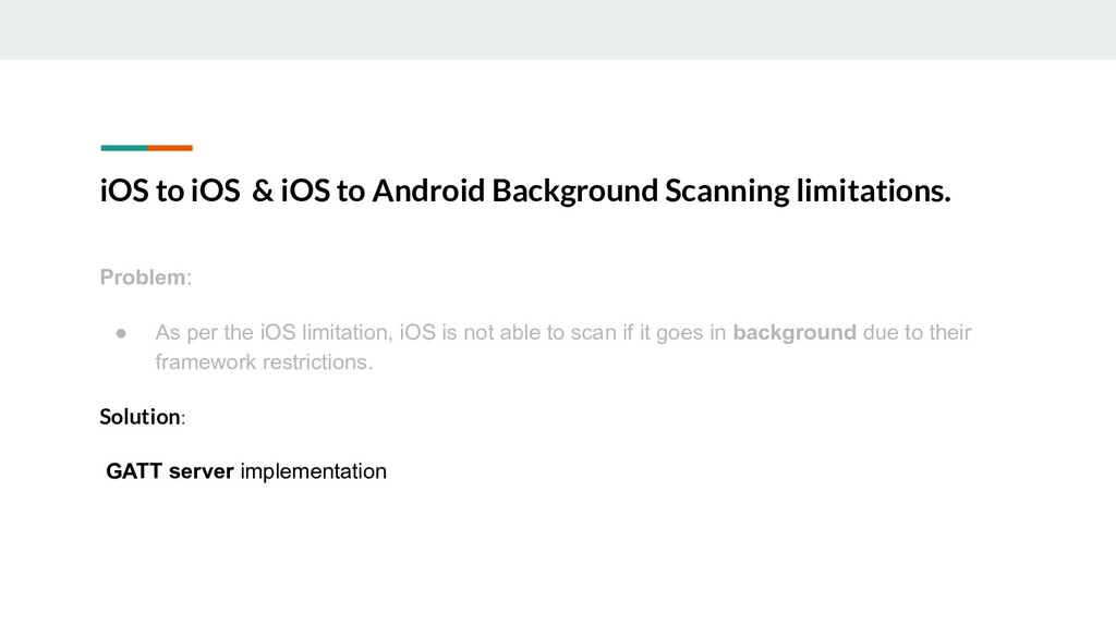iOS to iOS & iOS to Android Background Scanning...